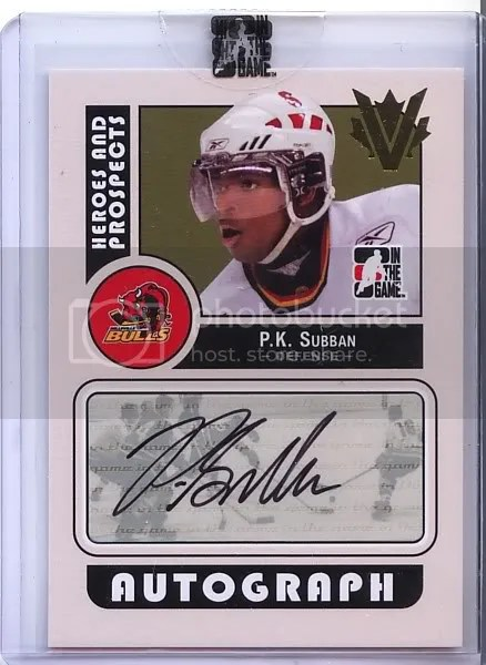 0809 Heroes amp Prospects Superbox PK Subban Auto Image