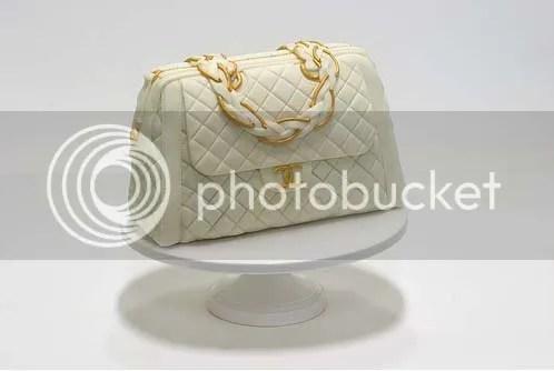 gâteau d'anniversaire sac à main blanc