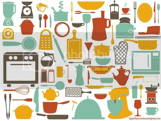 kitchen tools desktop wallpaper by Superflash Creative