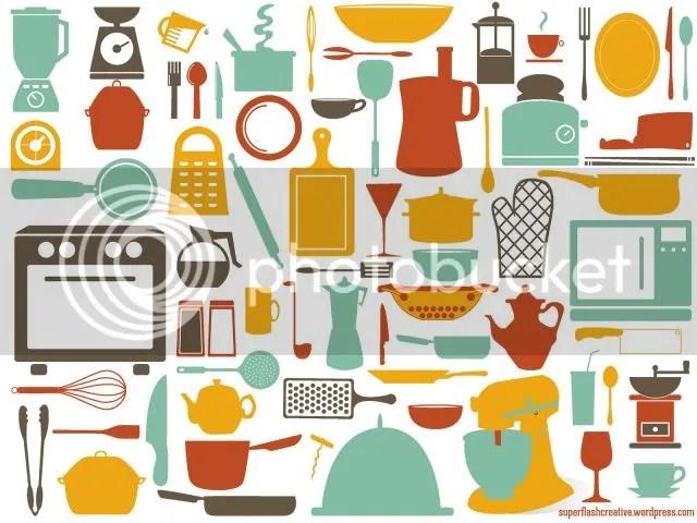 kitchen tools desktop wallpaper by Superflash Creative
