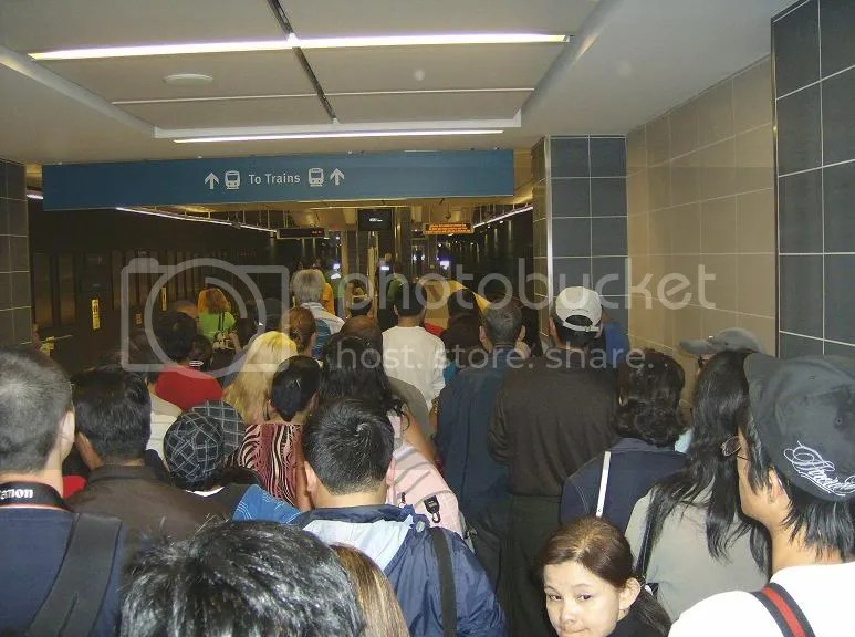Canada Line Waterfront Station queue