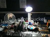 ModelMayhem.com - set up makeup work station - post pictures
