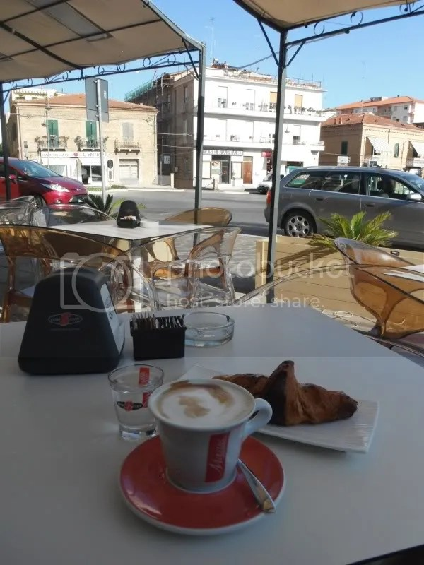 Cappuccino and Apricot croissant--perfect start to the day!