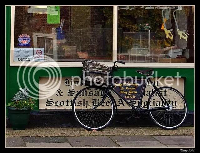Butcher's bike, east Boldon, near South Shields