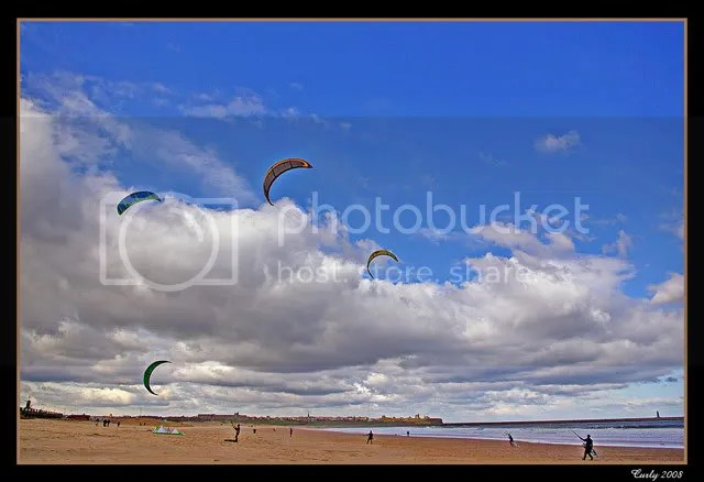 kite boarding, South Shields