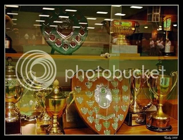 Trophy cabinet, Jack Clark Park, South Shields