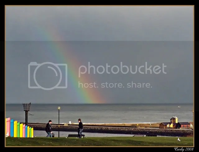 rainbow, off South Shields
