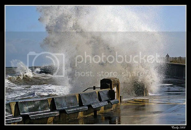 Big wave, Roker near South Shields