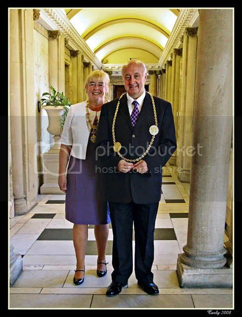 Mayor and Mayoress of South Tyneside Cllr. Alex and Mrs. Donaldson