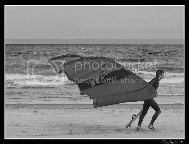 kiteboarding in South Shields