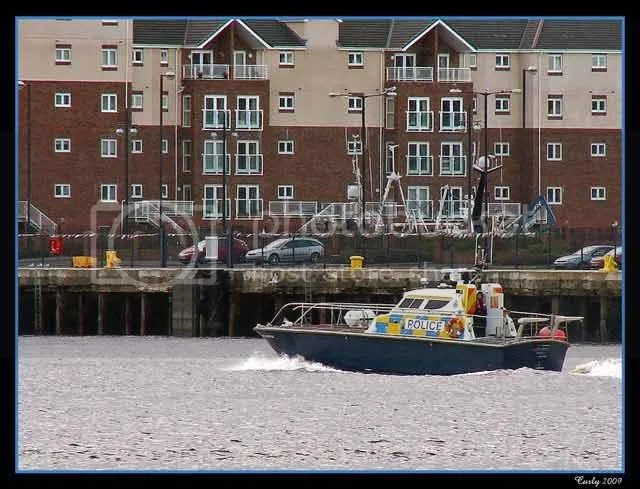 Police launch, River Tyne, South Shields