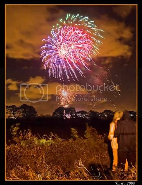 Firework display, South Shields