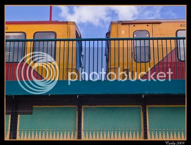 Metro train, South Shields