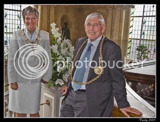 Cllr. John Anglin and Mrs. Chris Anglin, Mayor and Mayoress of South Tyneside