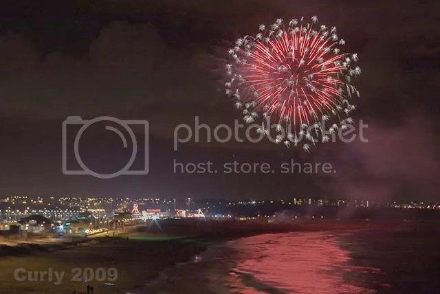 Fireworks in South Shields