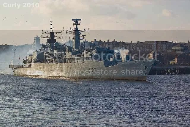 HMS Cumberland seen from South Shields