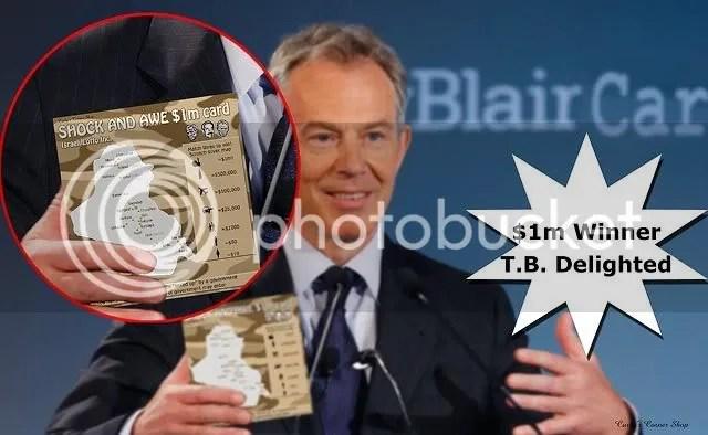 Tony Blair scratch card