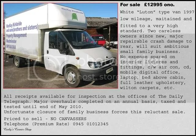 For sale advert