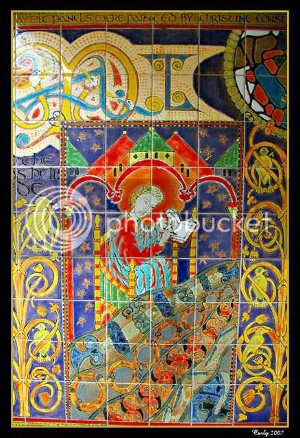 The Venerable Bede tile mosaic, Jarrow