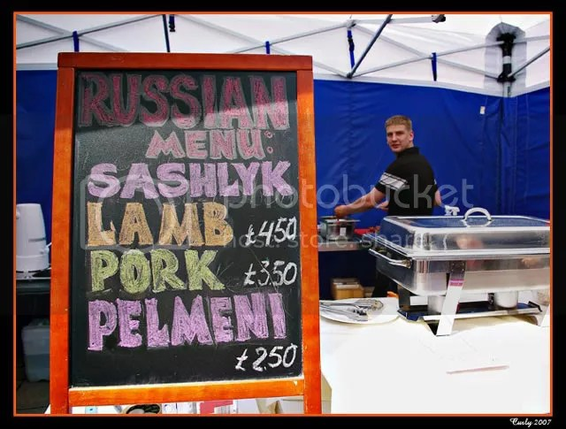 Russian food for sale, South Shields Continental Market
