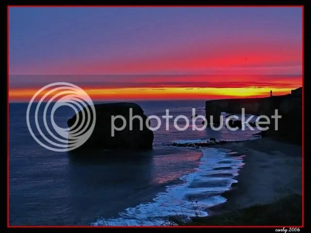 dawn in Marsden Bay, South Shields