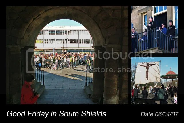 Postcard, Good Friday in South Shields, Market Place and West Park