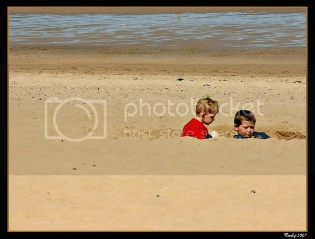 Digging on the beach, South Shields
