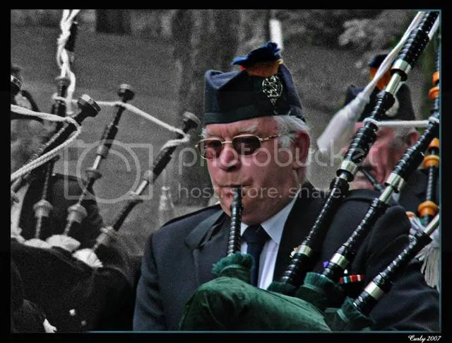 Pipers, Mayor's Sunday parade, Whitburn 3 June 2007, near South Shields