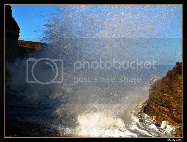 wave splash, Marsden, South Shields