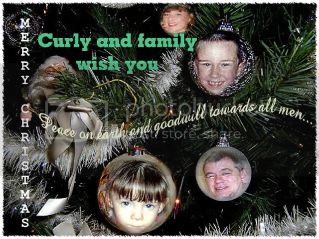 Curly's Christmas Card