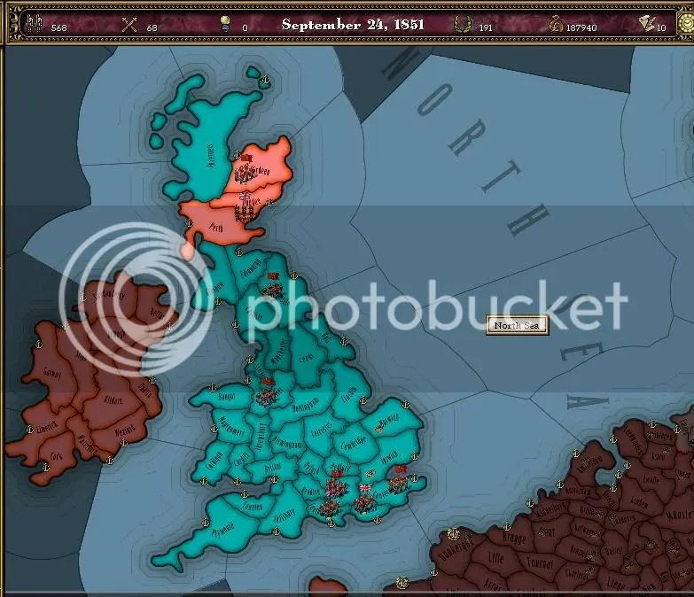 England occupied