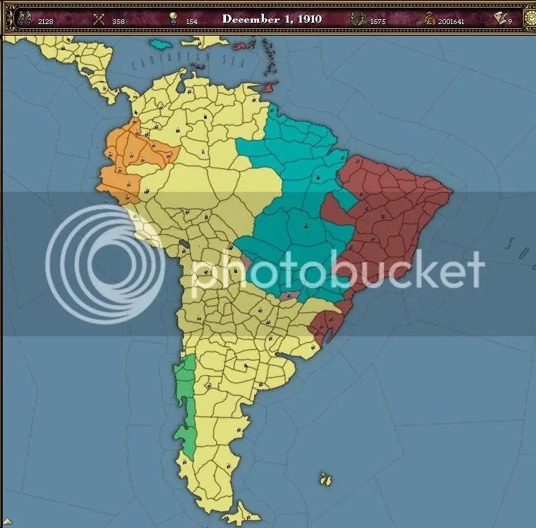 South America 1910