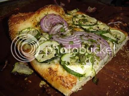 summer vegetable and chevre pissaladiere