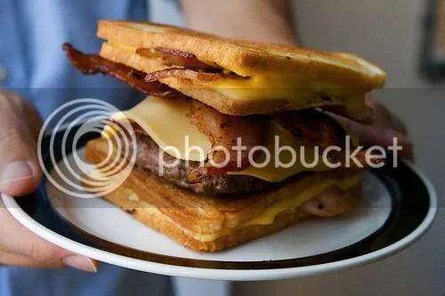 the Bacon Hamburger Fatty Melt, courtesy of A Hamburger Today