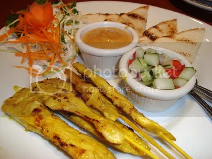 chicken satay (they also have pork!)