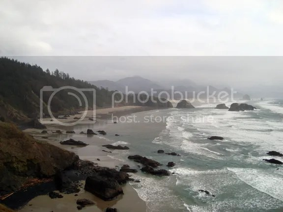 view south from Ecola State Park