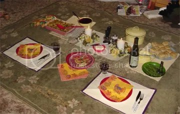 my sad little dinner on the floor