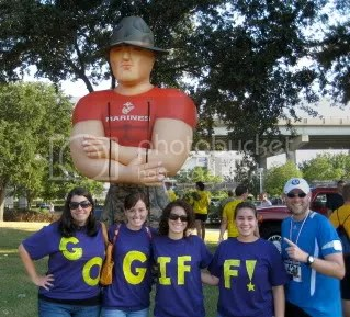 Team Giff posing with the big Marine