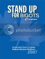 Harper Goverment Standing Up for Bigots