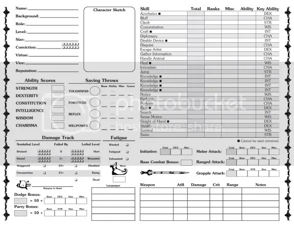 mutants and masterminds character sheet 3rd edition