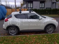 Got my Thule roof rack installed - Nissan Juke Forum