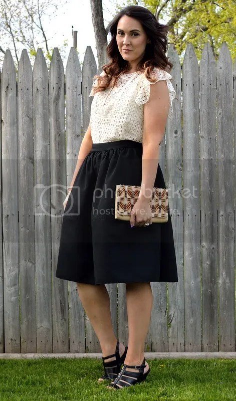 photo Black skirt and white top.jpg