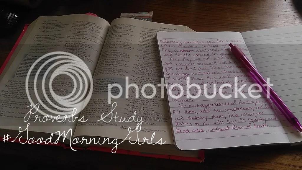 Proverbs Study @godschicki @GoodMorningGirls @WomenlivingWell