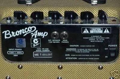 Tweed Bronco amp  Harmony Central