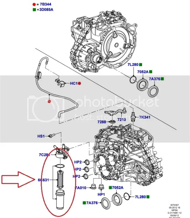 Genuine Ford 6spd Powershift Transmission Filter Kit