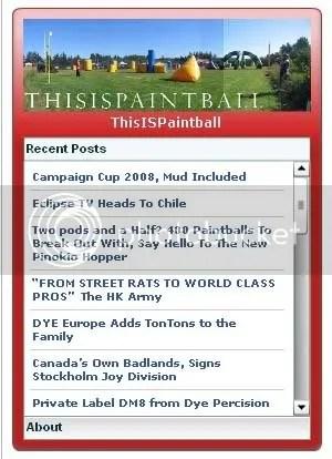 ThisIsPaintball Widget