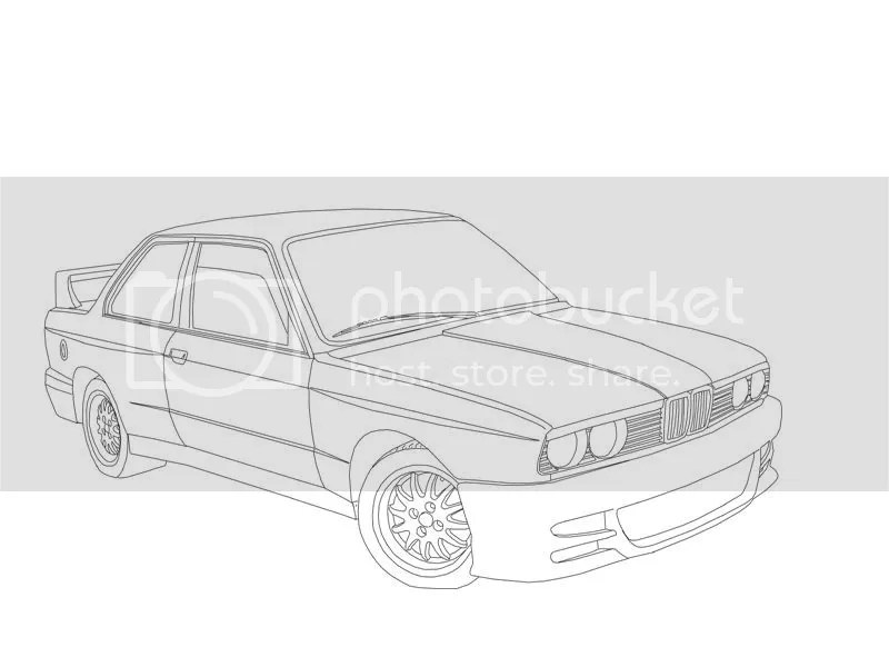 E30 Bmw M3 Coloring Pages