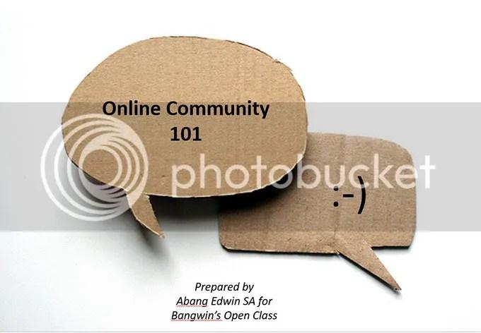 Online Community 101