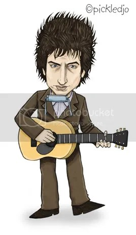 Bob Dylan Caricature Cartoon