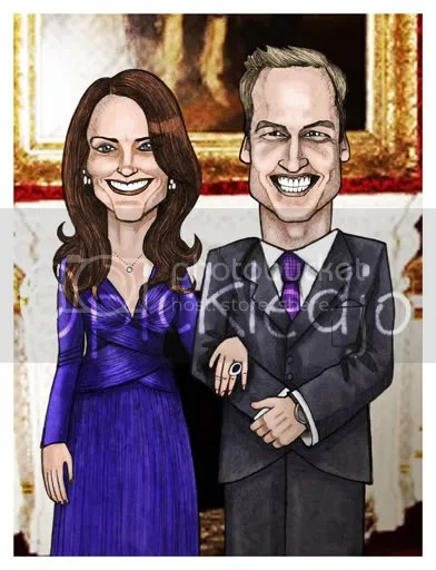 Prince william and kate middleton cartoon Royal Wedding